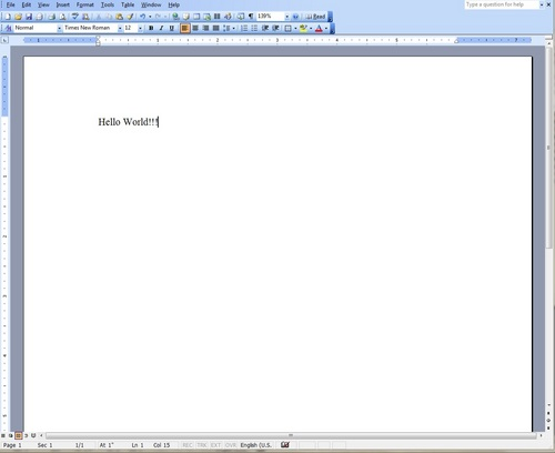 how to delete a whole page in microsoft word 2003